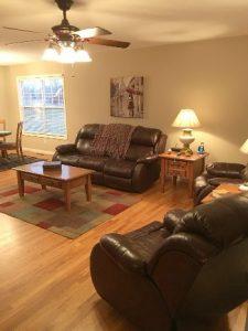 Living Room Staged for Resale