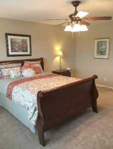 Master Bedroom Staged to place on the market to sale.