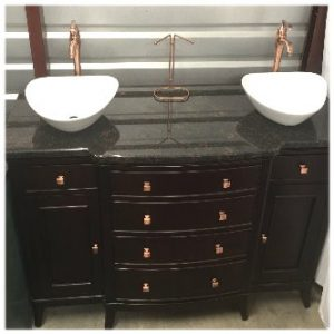 Mahogany Double Sink Vanity