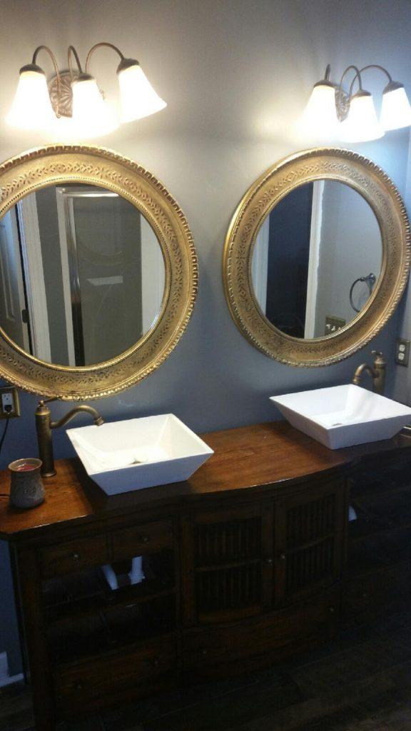 Sinks in Custom Double Vanity