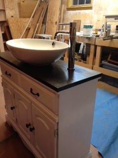 Single Oval Sink Vanity