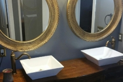 Sinks in Custom Double Vanity